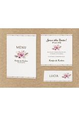 Belarto Bohemian Wedding Trouwkaart als uittrekkaart met bloemen en touw (727011)