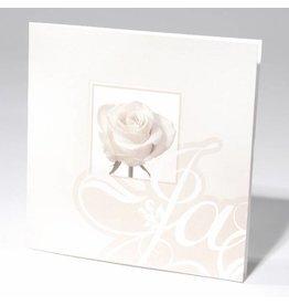 Familycards-Deel je Geluk Trouwkaart witte roos