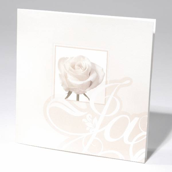 Familycards-Deel je Geluk Trouwkaart witte roos (621712)