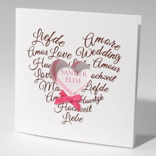 Familycards-Deel je Geluk Trouwkaart sweethearts (621709)