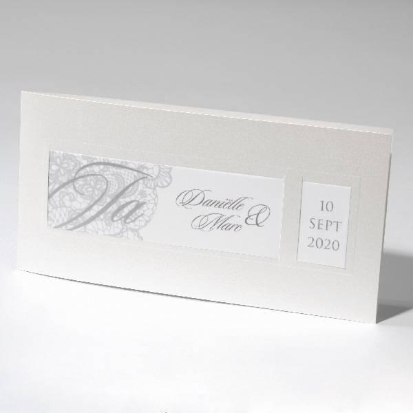 Familycards-Deel je Geluk Trouwkaart, klassiek model met calco papier (621708)
