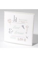 Familycards-Deel je Geluk Trouwkaart met sleutel en ornamenten (621684)