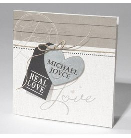 Familycards-Deel je Geluk Trouwkaart Real Love - foliebedrukking mogelijk