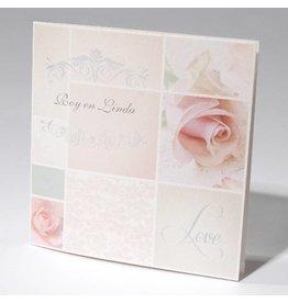 Familycards-Deel je Geluk Trouwkaart pink