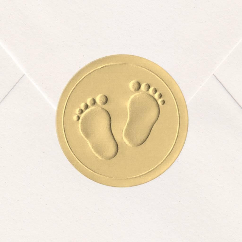 Sluitzegel Gouden voetjes (715102P)