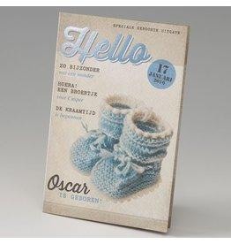 Belarto Little Love Geboortekaart magazine met blauwe sokjes