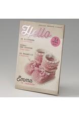 Belarto Little Love Geboortekaart magazine met roze sokjes (714012)