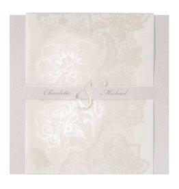 Belarto Jubileum Uitnodiging elegant met bloemenmotief