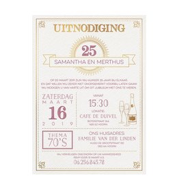Belarto Jubileum Uitnodiging SPECIAL typografie