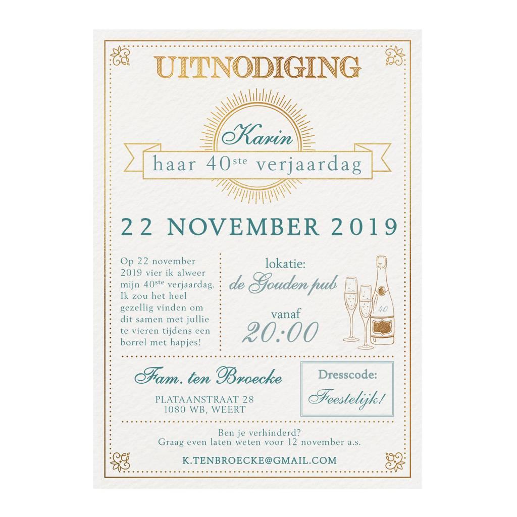 Belarto Jubileum Uitnodiging SPECIAL typografie  (786110)