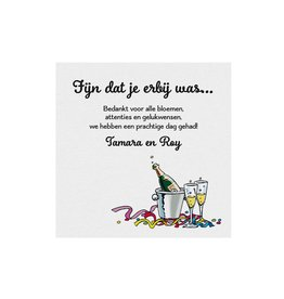 Belarto Jubileum Save The Date kaart of bedankkaart have fun met champagne illustratie