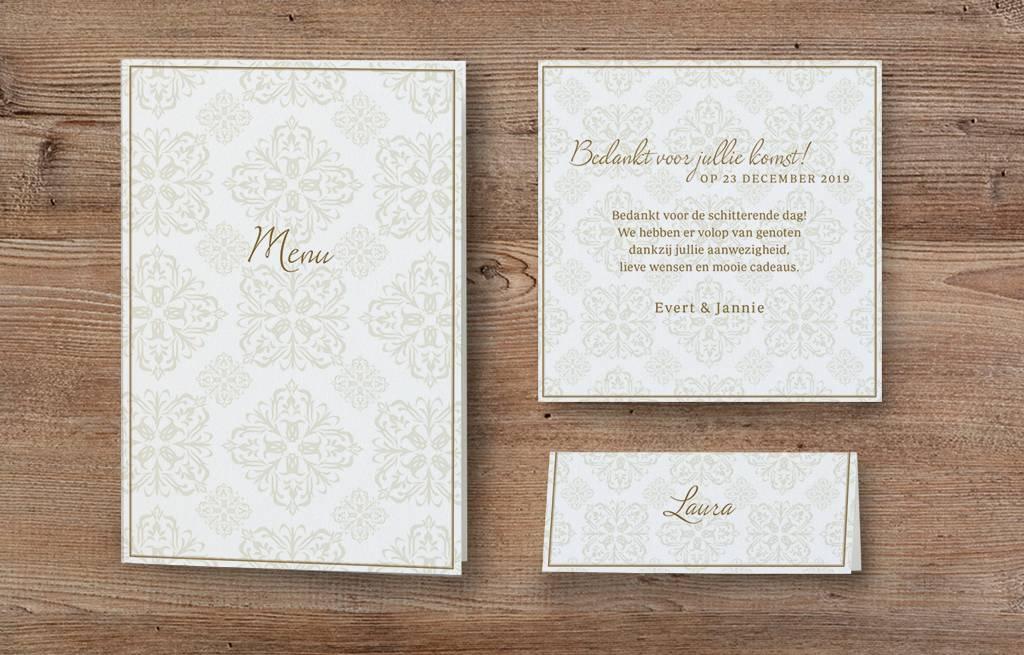 Belarto Jubileum Save The Date of bedankkaart passende bij uitnodiging classic (786500)