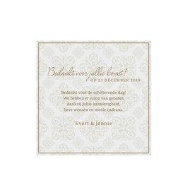 Belarto Jubileum Save The Date of bedankkaart passende bij uitnodiging classic