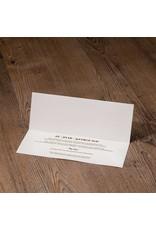 Belarto Jubileum Uitnodiging classic in envelopstijl met transparante wikkel (786047)