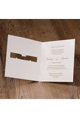 Belarto Jubileum Uitnodiging classic met doorkijkvenster voor namen of een foto (786020)