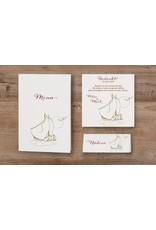 Belarto Jubileum Menukaart classic met zeilbootjes, maan en vogels (786609)