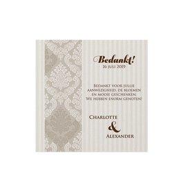 Belarto Jubileum Save The Date of bedankkaart classic met barok sierlijst