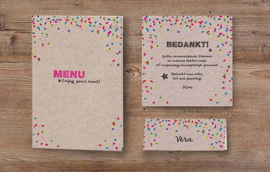 Belarto Jubileum Tafelkaart CELEBRATE confetti (786759)