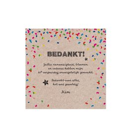Belarto Jubileum Save The Date of bedankkaart CELEBRATE in  confetti