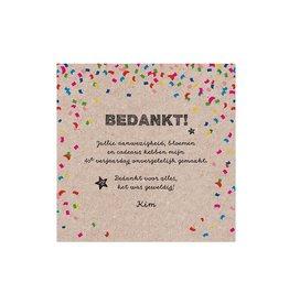 Belarto Jubileum Save The Date of bedankkaart CELEBRATE in  confetti