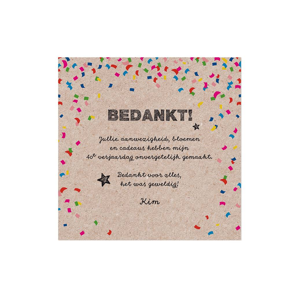 Belarto Jubileum Save The Date of bedankkaart CELEBRATE in  confetti (786559)