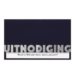 Belarto Jubileum Uitnodiging CELEBRATE stijlvolle vouwkaart met inlegvel