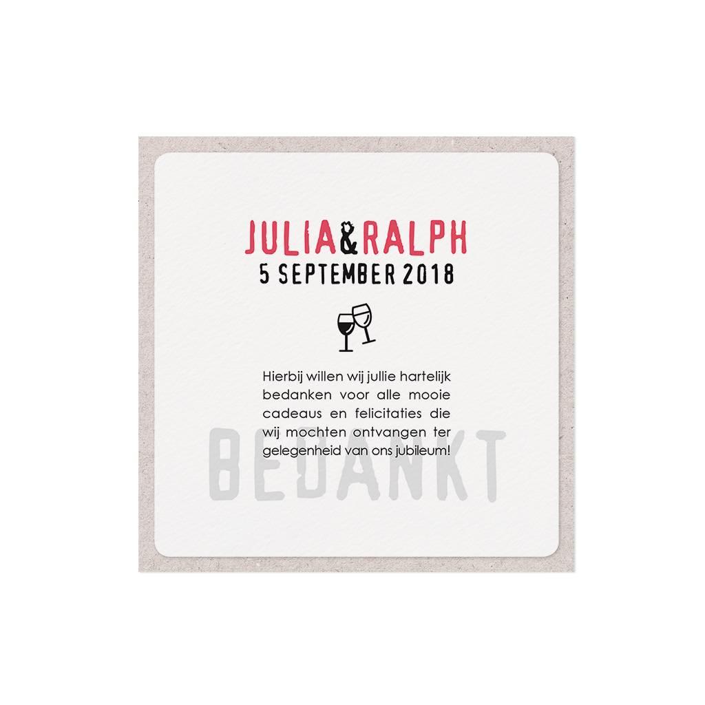 Belarto Jubileum Save The Date of bedankkaart special infographic (786596)