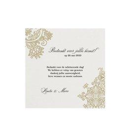 Belarto Jubileum Save The Date of bedankkaart elegant met barok details