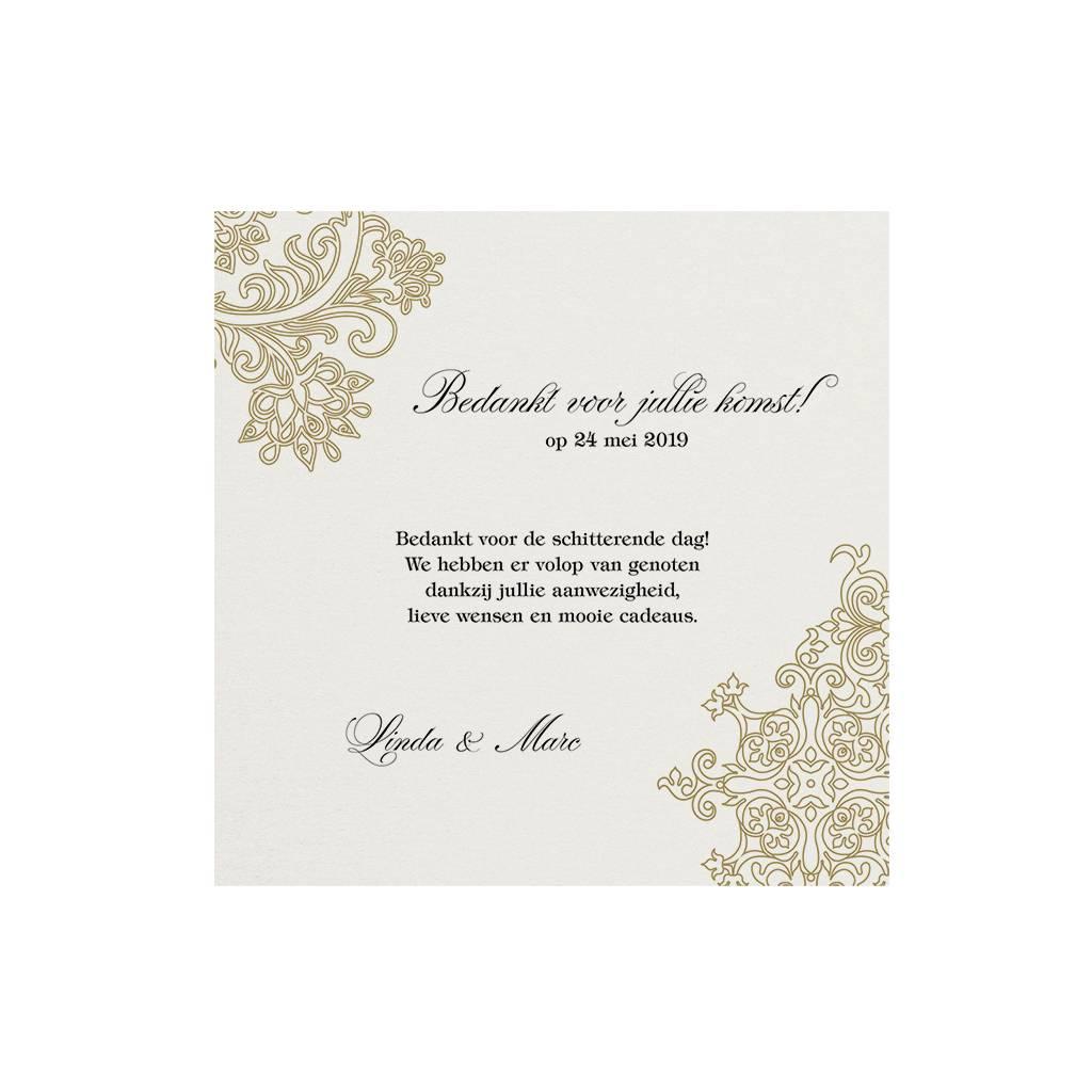 Belarto Jubileum Save The Date of bedankkaart elegant met barok details (786595)