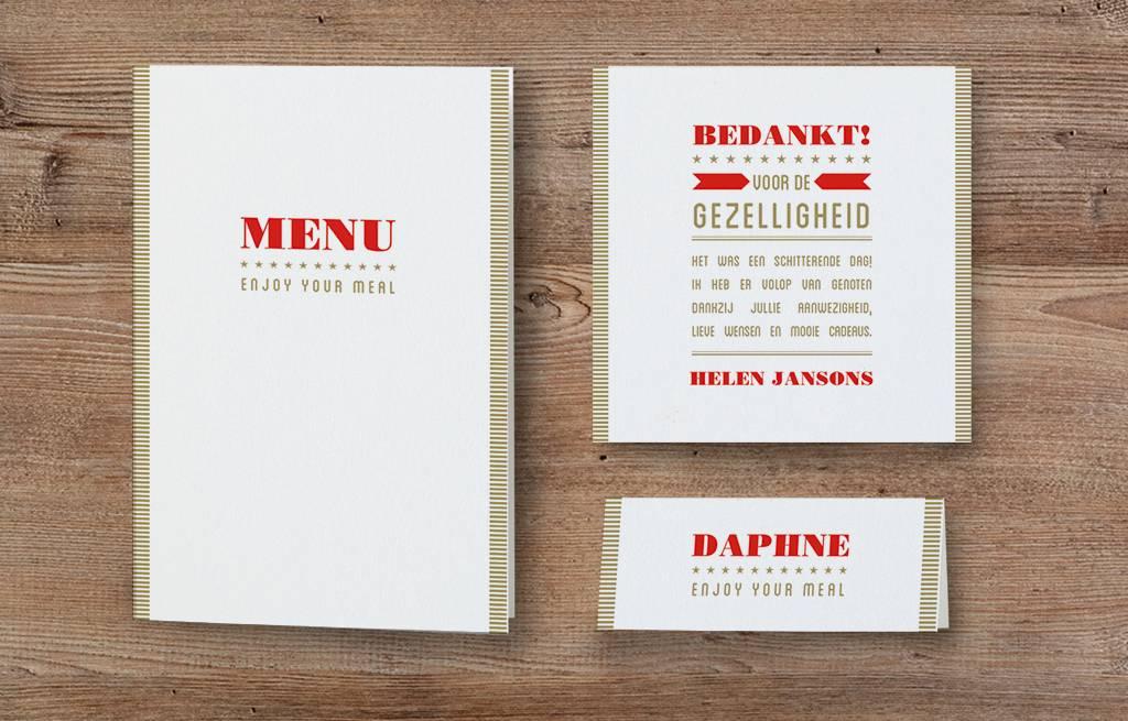 Belarto Jubileum Menukaart SPECIAL typografie  (786673)