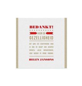 Belarto Jubileum Save The Date of bedankkkaart SPECIAL typografie