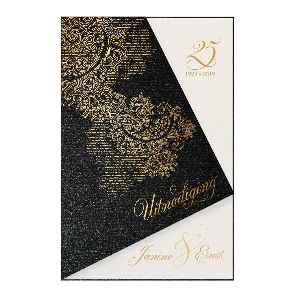 Belarto Jubileum Uitnodiging elegant met unieke abstracte omslag (786097)