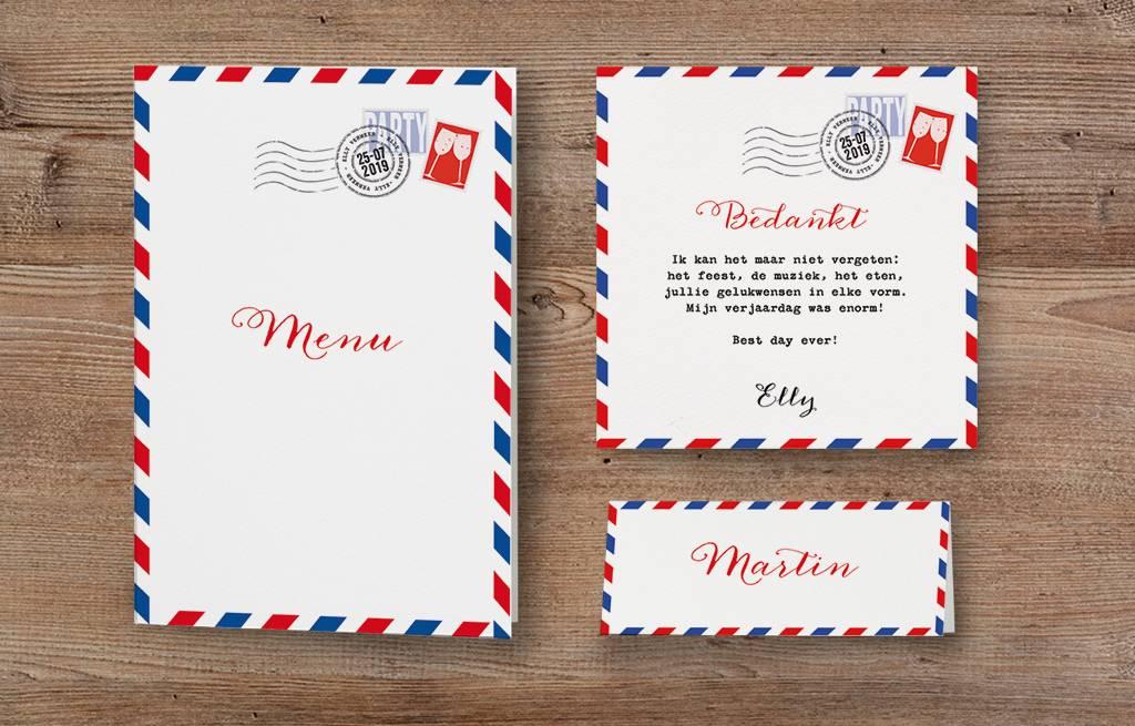 Belarto Jubileum Save The Date of bedankkaart special postkaart (786570)