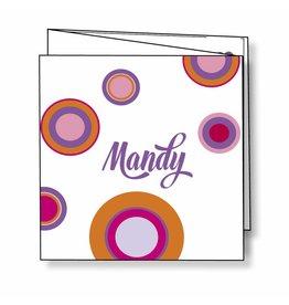 Mare Geboortekaartje met kleurige cirkels - roze
