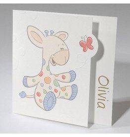 Geboortekaartje Baby & Giraf