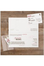 Belarto Bohemian Wedding Trouwkaart met uitschuif in hoesje en polaroidfoto (727013)