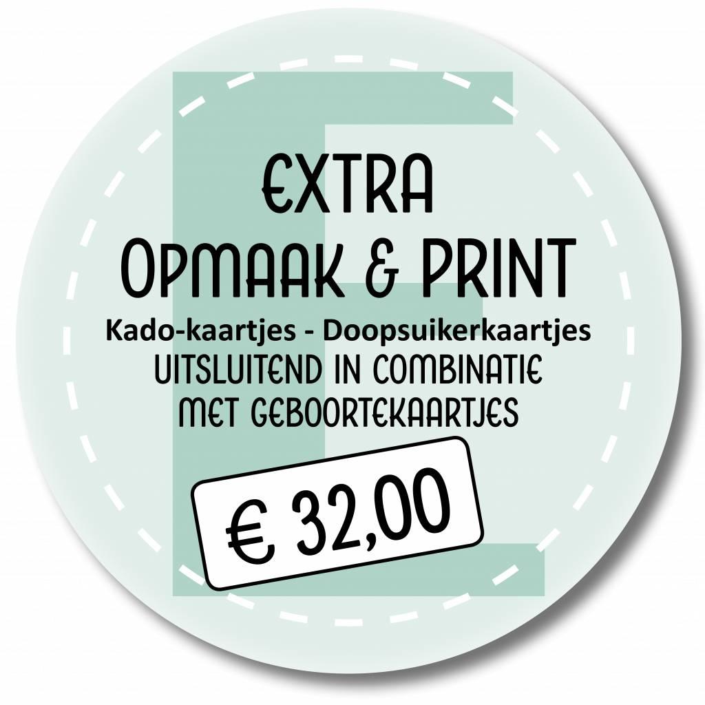 Extra printen in combinatie met geboortekaarten (999014)