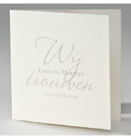 Buromac La Vie en Rose Oudhollandse huwelijkskaart