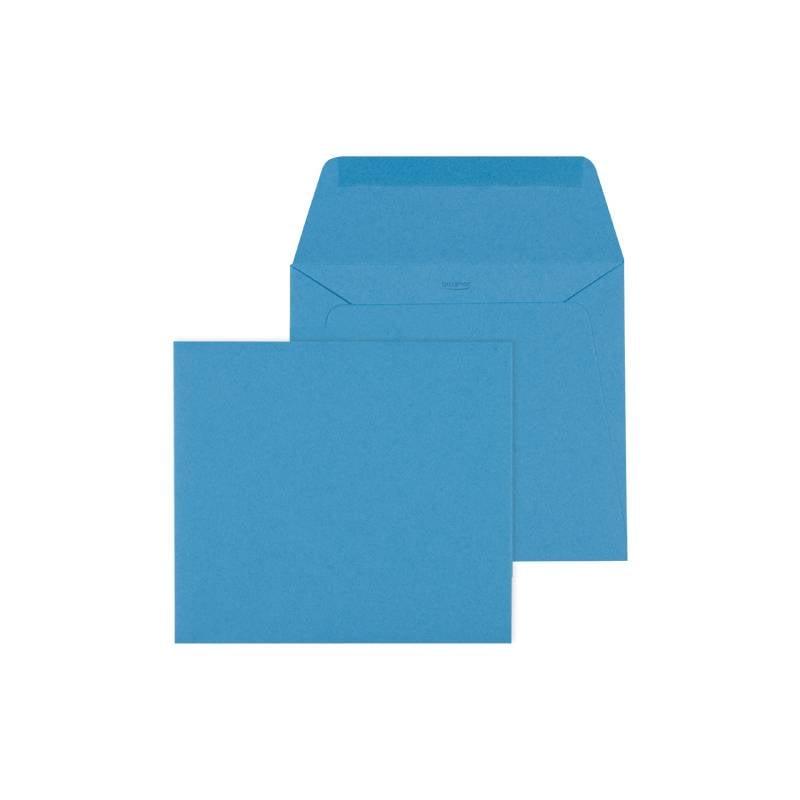 Mare Geboortekaartje met silhouetje van poes - blauw (18-016-A)