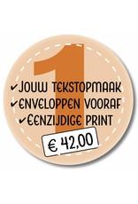 Mare Eenzijdig printen eigen tekstopmaak en enveloppen leveren (999021)