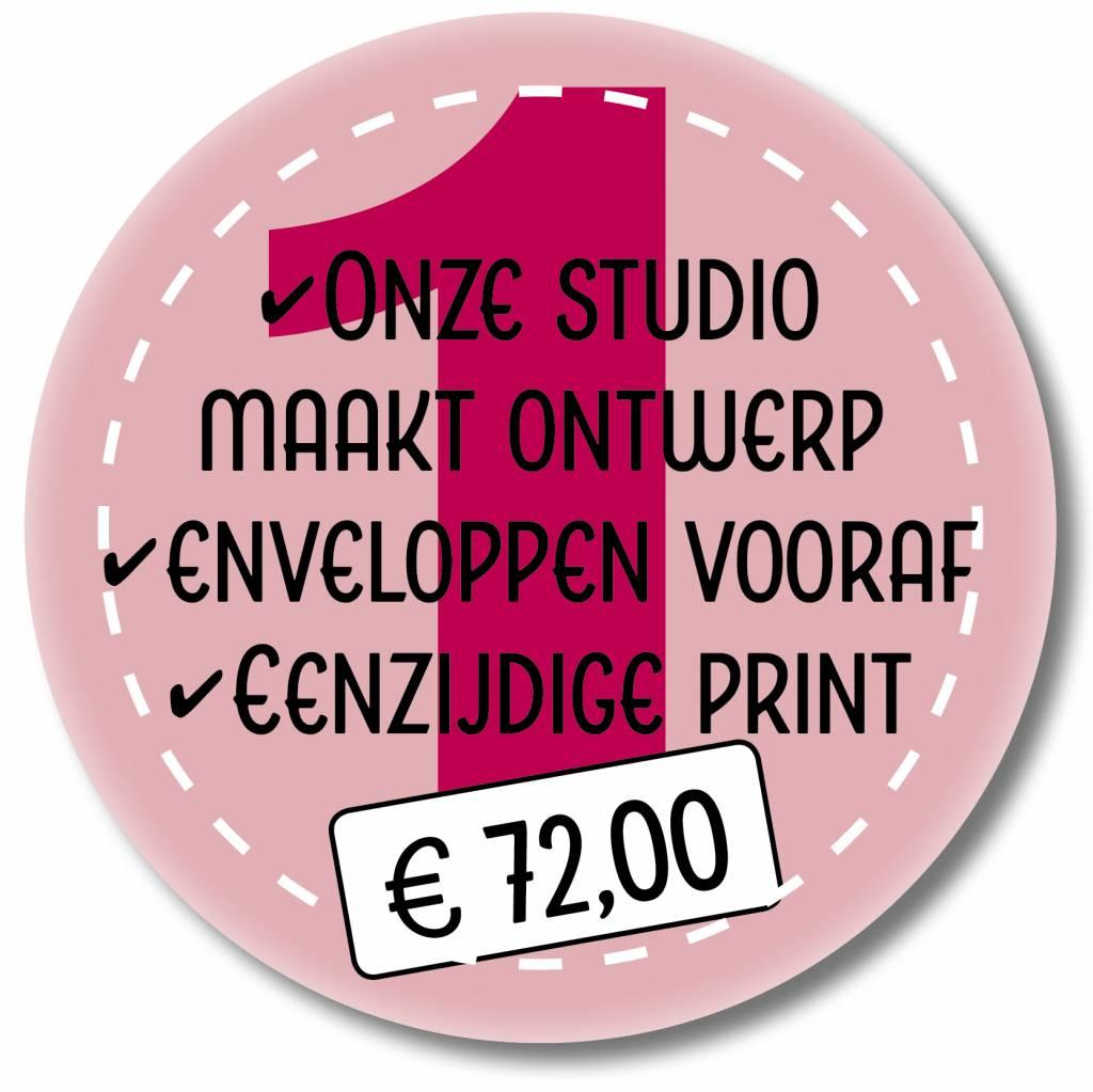 Eenzijdig printen en enveloppen leveren (999011)
