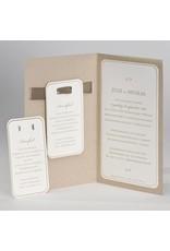 Buromac La Vie en Rose Eco bruine trouwkaart met opplakparel en lint (106118)