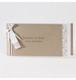 Buromac La Vie en Rose Eco trouwkaart met flower power