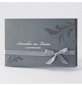 Buromac La Vie en Rose Trendy staalgrijze huwelijkskaart