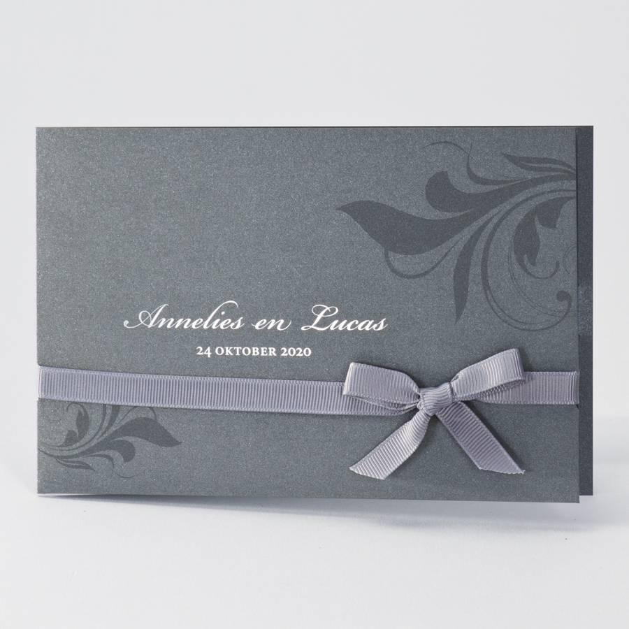 Buromac La Vie en Rose Trendy staalgrijze huwelijkskaart (104011)