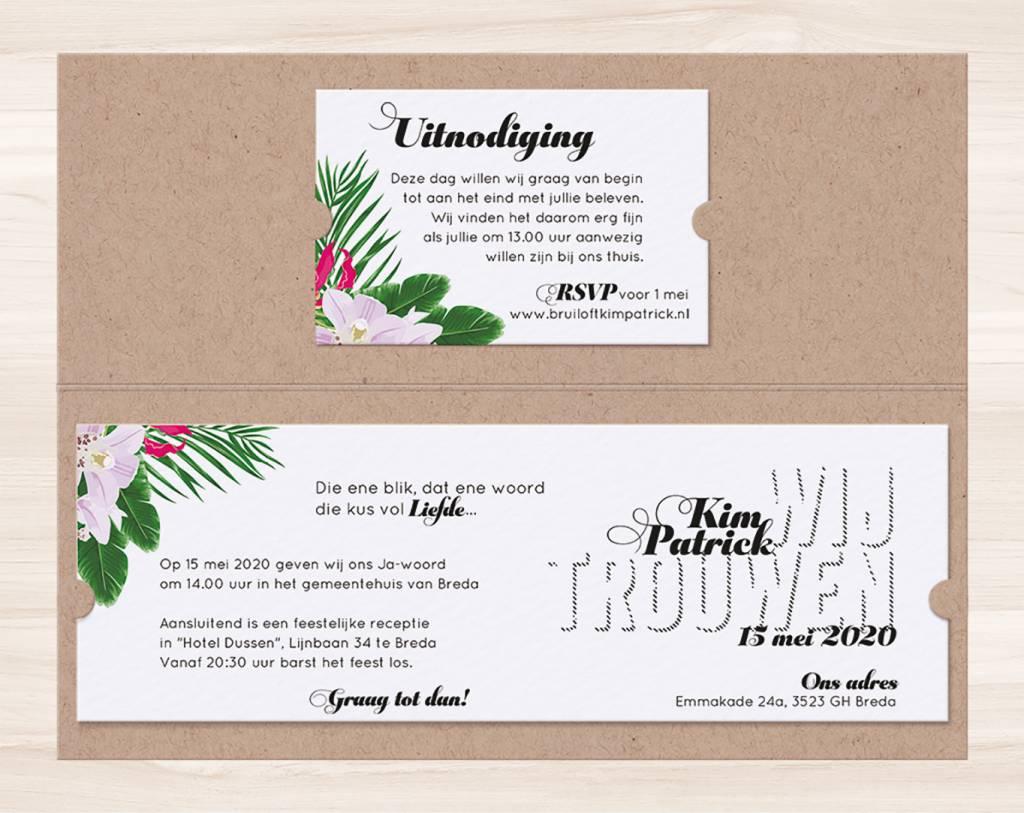 Belarto Yes We Do Trouwkaart - Tropische Bloemen (728022)
