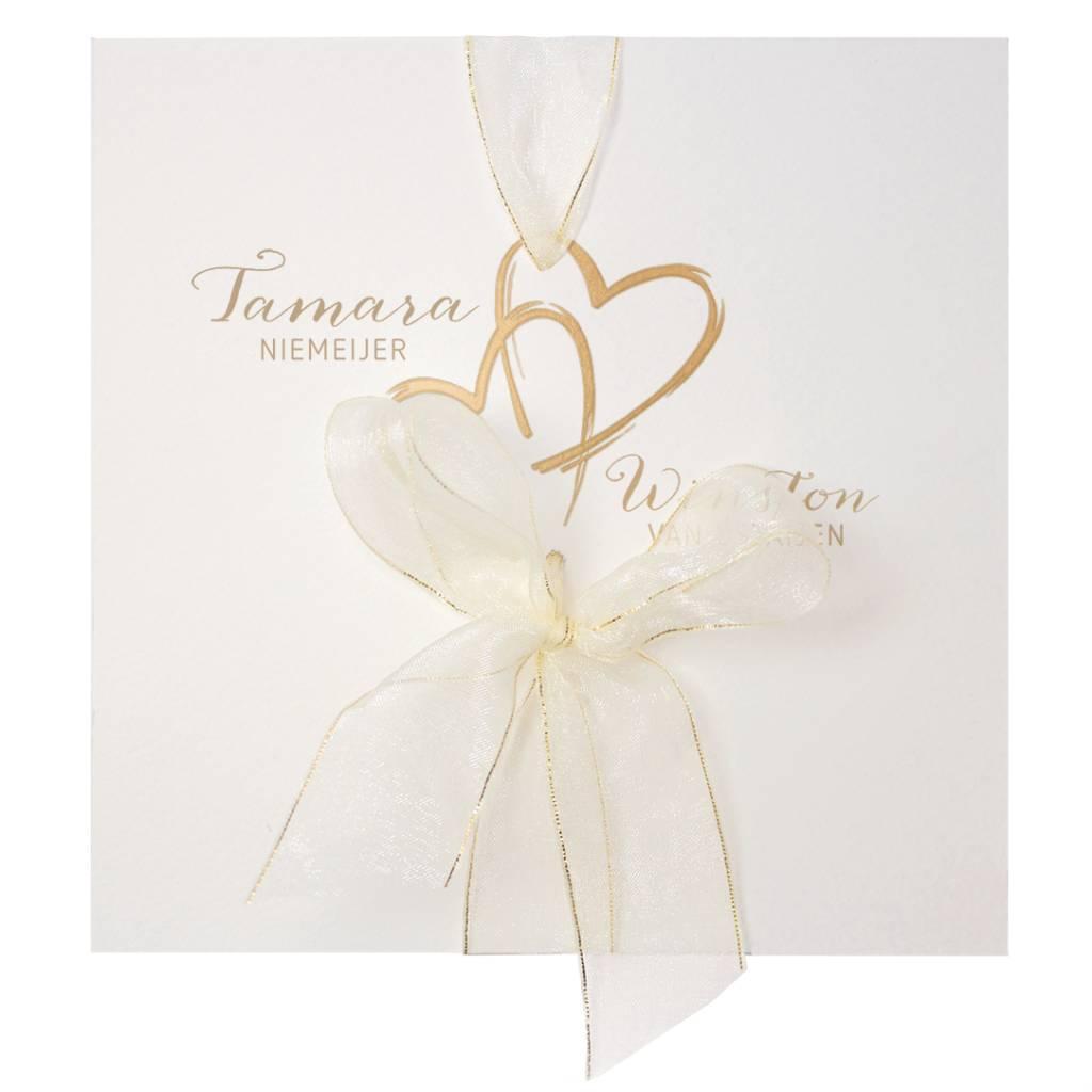 Belarto Yes We Do Trouwkaart - Gouden harten (728016)