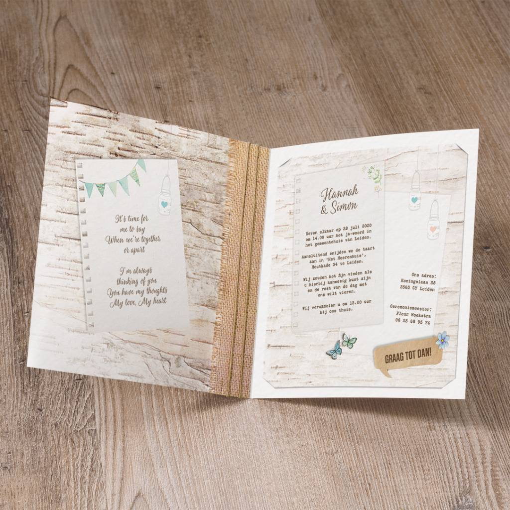 Belarto Yes We Do Trouwkaart - Bohemian wedding (728015)