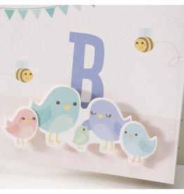 Belarto Stay Geboortekaart Vogel familie
