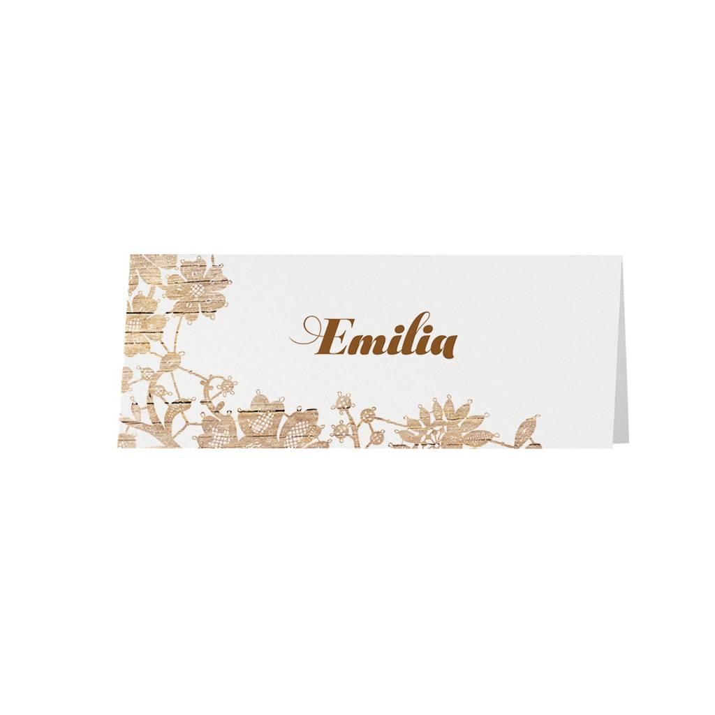 Belarto Jubileum Tafelkaart vintage houten bloemenpatroon (786753)